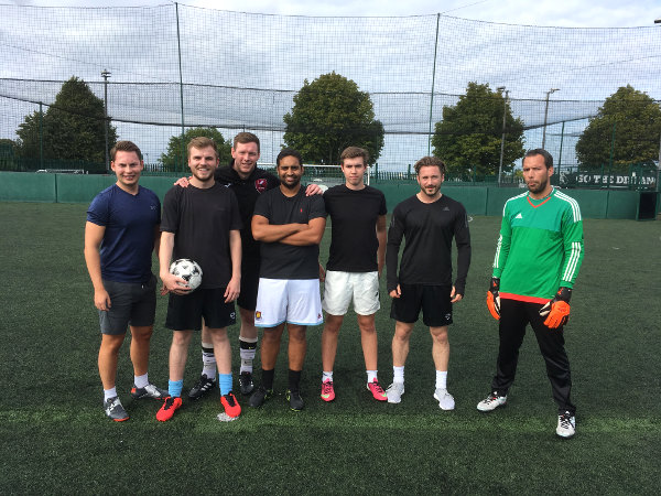 First Insurance Solutions play Zurich in 5-a-side football match
